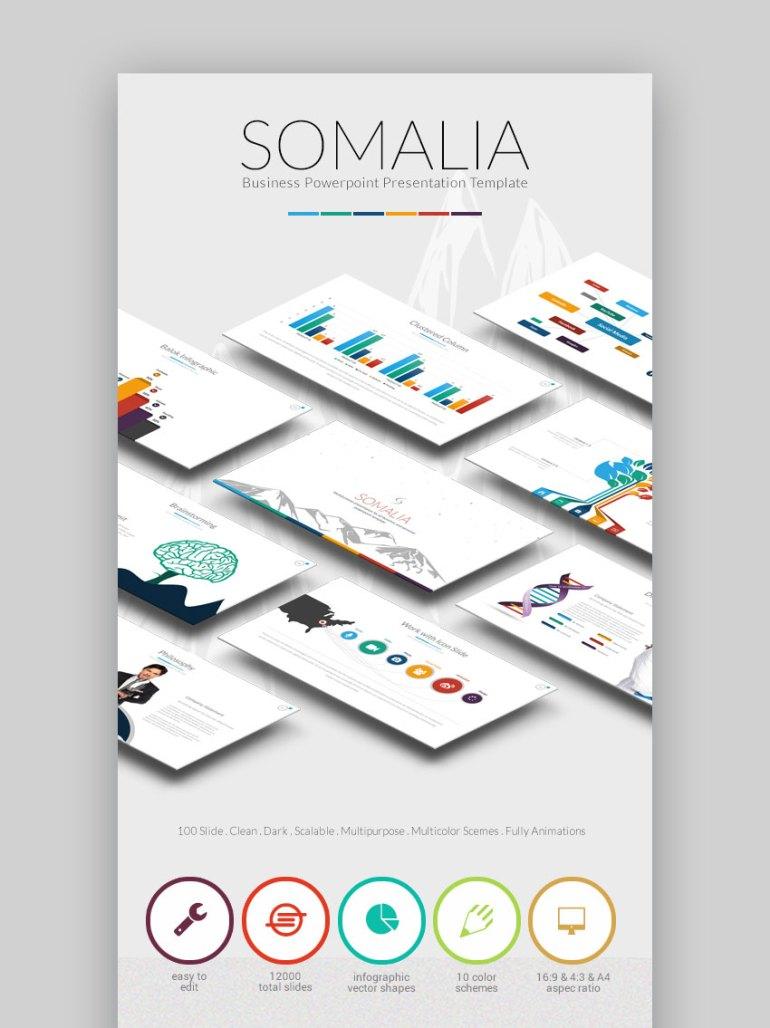Somalia PPT Business Infographic Slide Template