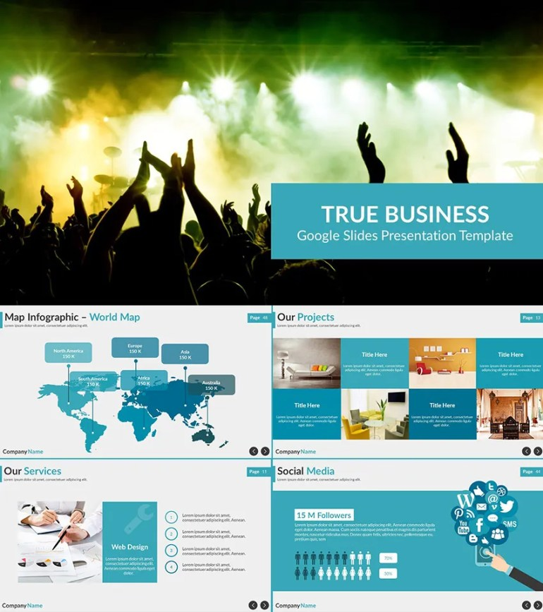 True Business Google Drive Presentation Template