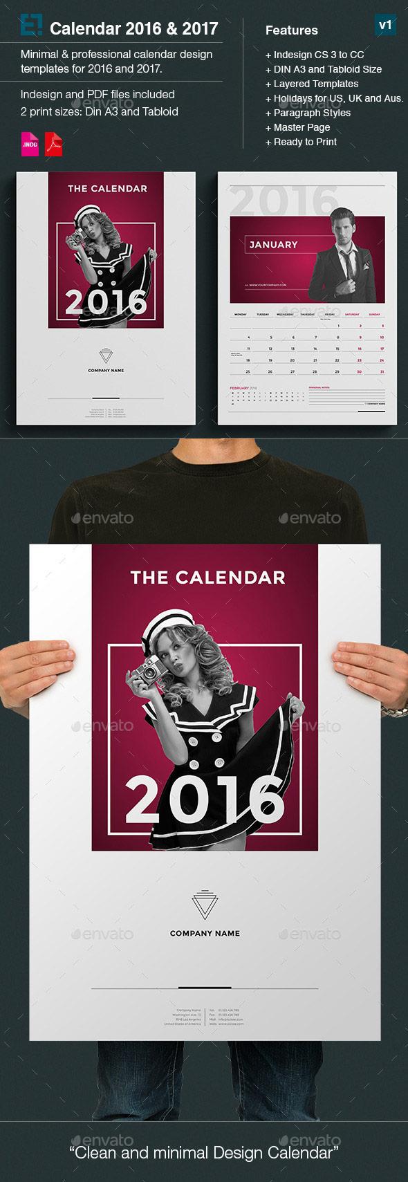 Kickstart 2016 With A Creative Monthly Calendar Template