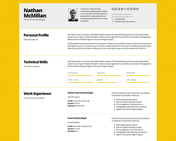 Bold - Better Responsive ResumeCV Template