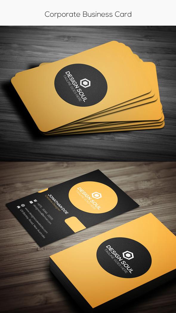 15 Template Kartu Nama Premium Dalam Format Photoshop Illustrator
