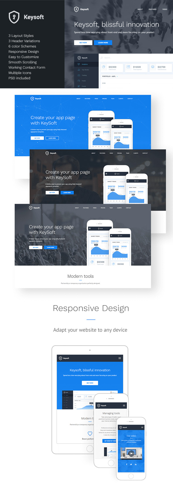 KeySoft Landing Page Design Template