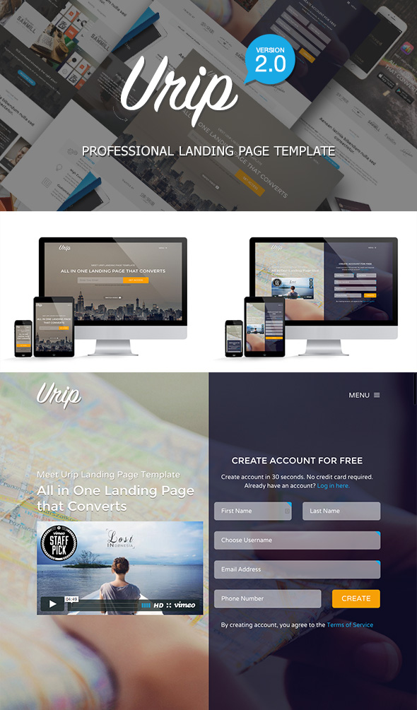 Urip - Professional Bootstrap Landing Page Template