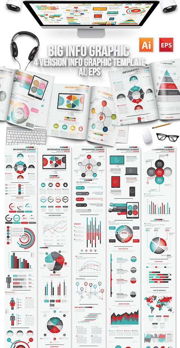 Modello di disegno di elementi di infografica
