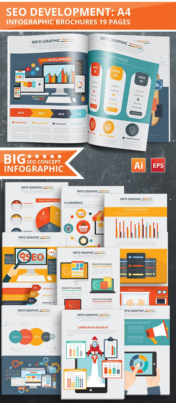 SEO Template Design infografico