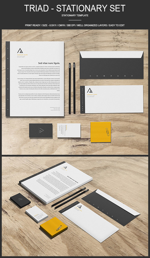 Triad - Stationery Identity Branding Set Design