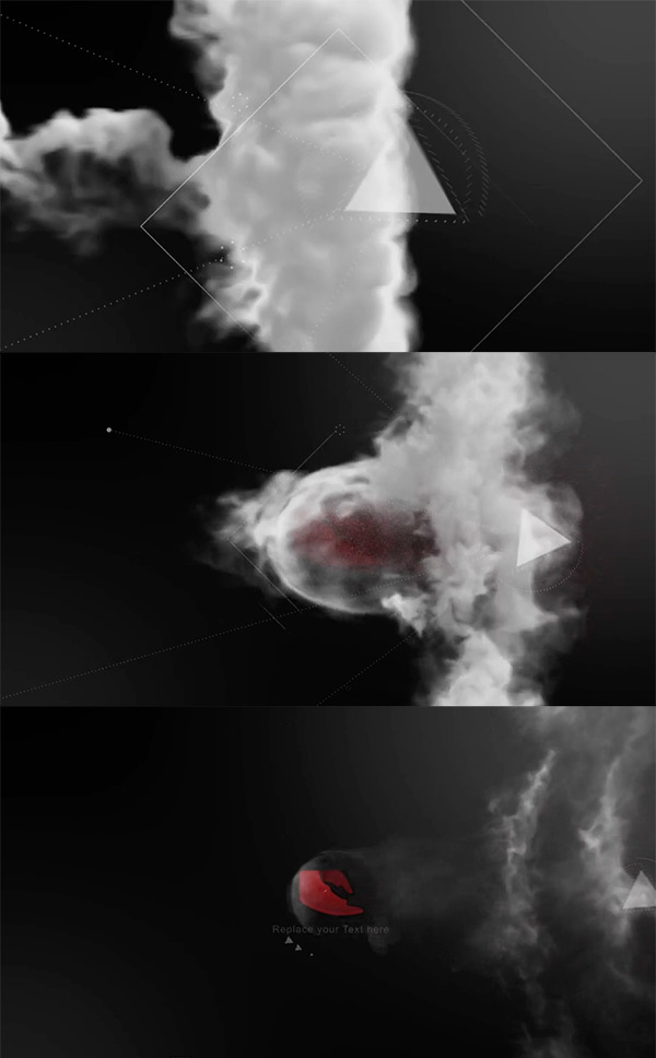 After Effects Logo Smoke Animation