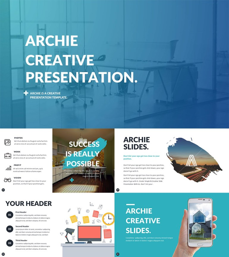 PowerPoint Template for Creative Presentation Ideas