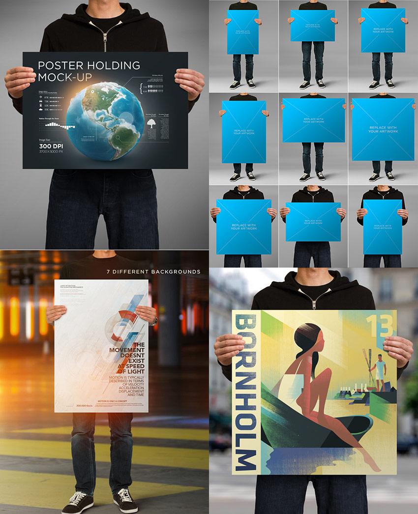 15 Template Mockup Poster Photoshop Untuk Desain Kreatifmu