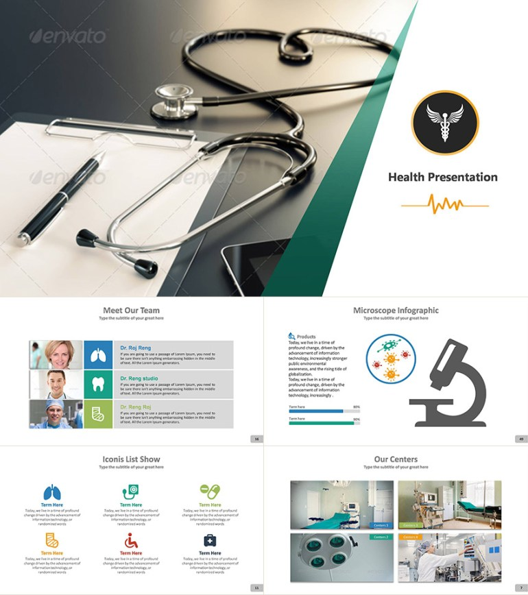 Health PPT Template Design