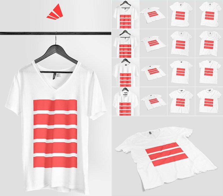 Realistic Photoshop T-Shirt Mock-up Designs