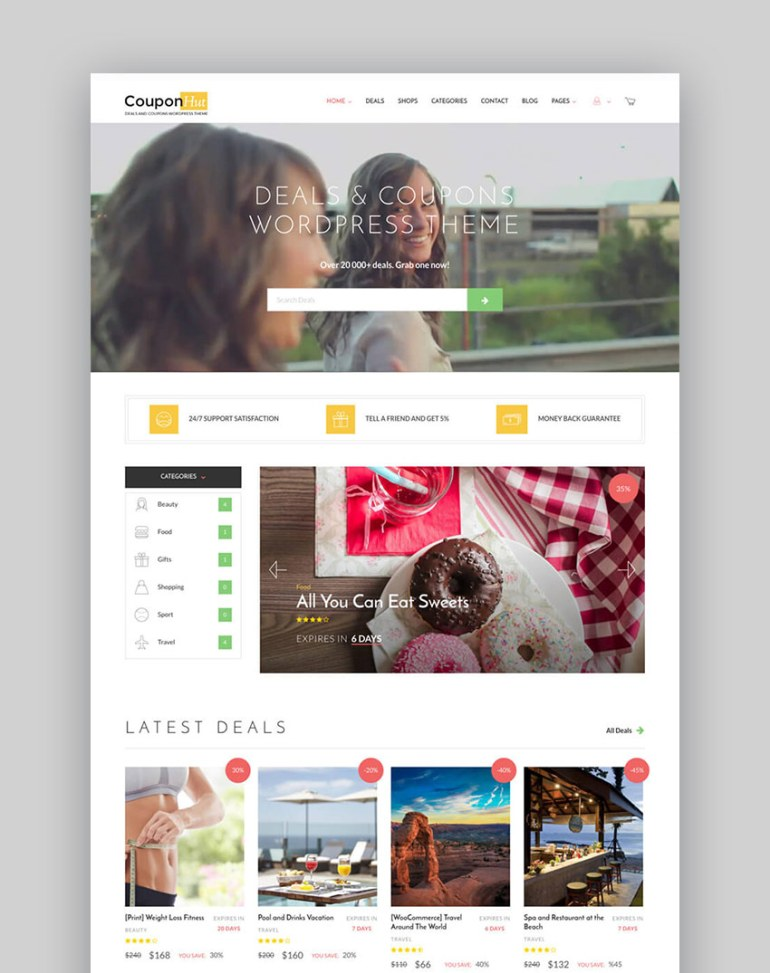 20 best wordpress directory themes to make business websites 2017 coupon hut business listing wordpress website template wajeb Image collections