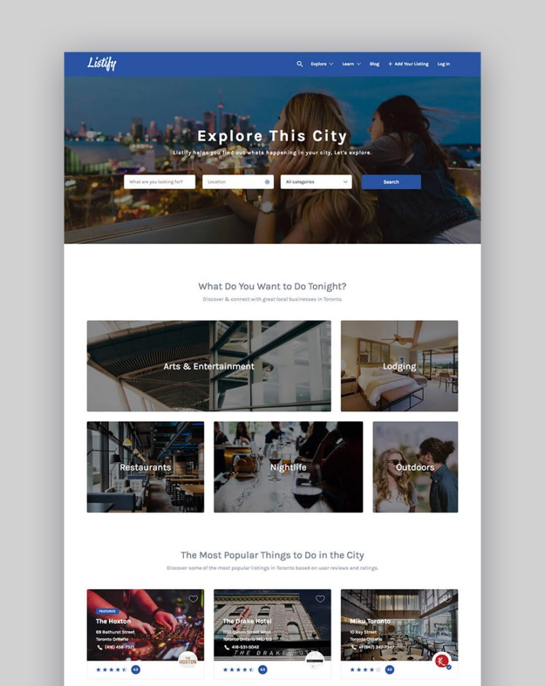 20 best wordpress directory themes to make business websites 2017 listify wordpress business directory website template flashek Images