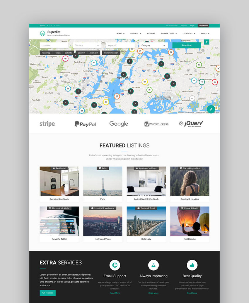 20 best wordpress directory themes to make business websites 2017 superlist directory business wordpress listing template accmission Images
