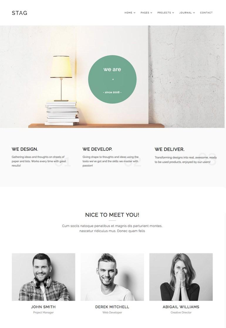 Stag Simple WordPress Folio Theme