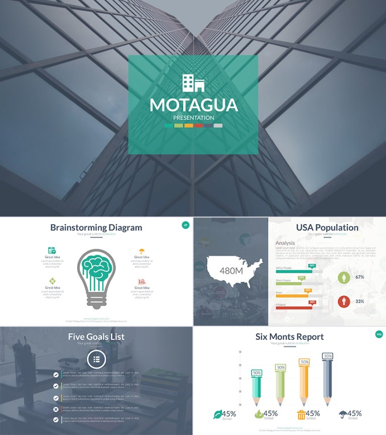 Motagua PowerPoint Template Design for Students and Teachers