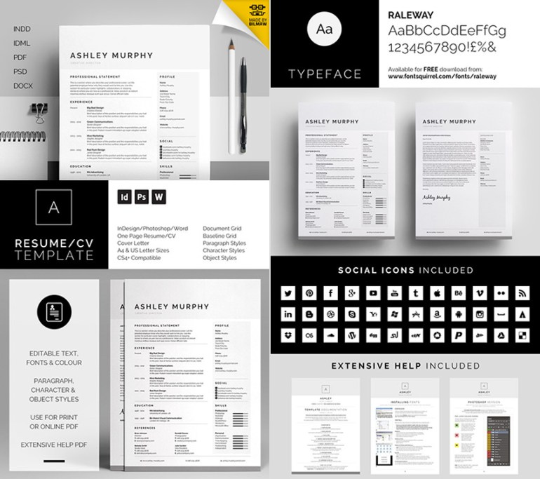Ashley Professional Microsoft Word Resume Template
