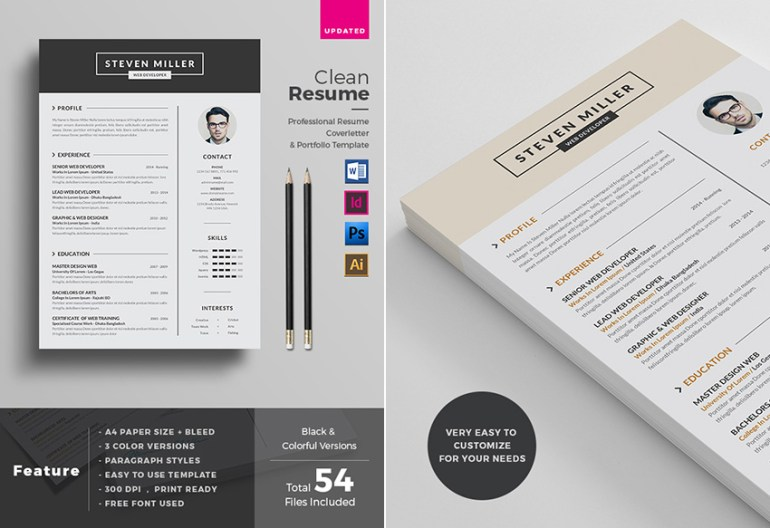 Professional MS Word Resume Template Design