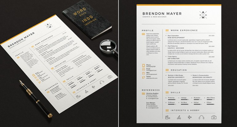Simple Resume Microsoft Word Template Design