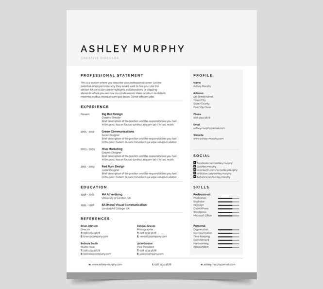 Simple Resume Design  Resume Sample