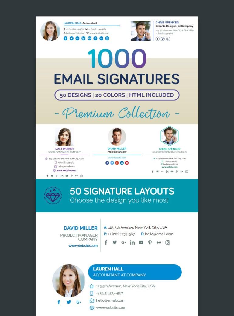 Premium Email Signature Templates Professional Collection