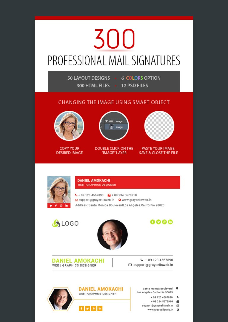 300 Professional Email Signatures Template Designs