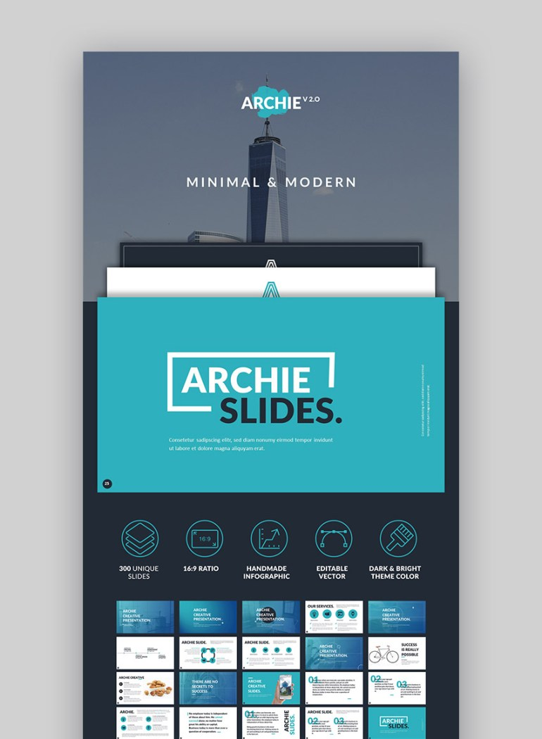 Archie Creative Google Drive Slide Design Set