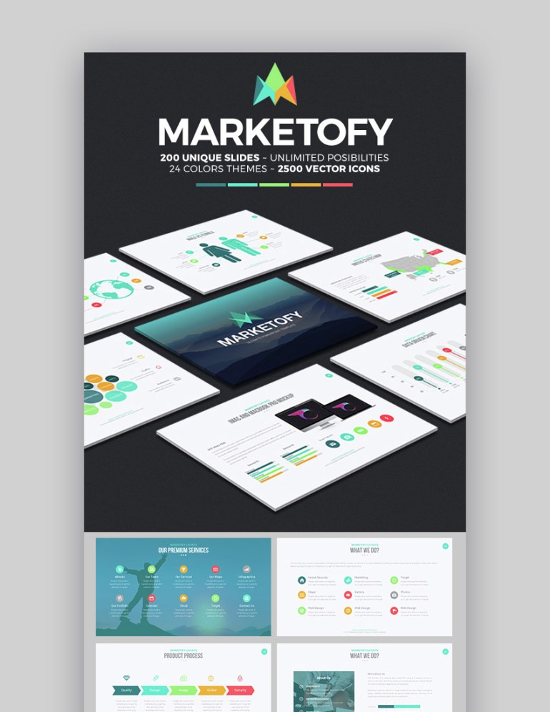 Marketofy Best Cool Google Slides Theme Design