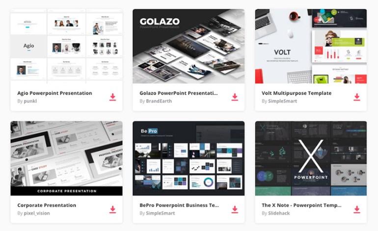 Best PowerPoint presentation design templates on Envato Elemetns