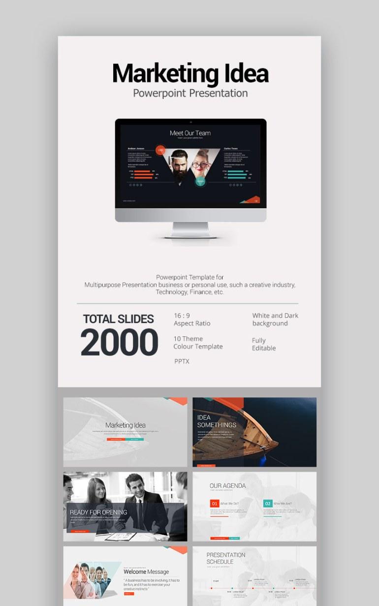 flux slides creative ppt presentation template flat modern