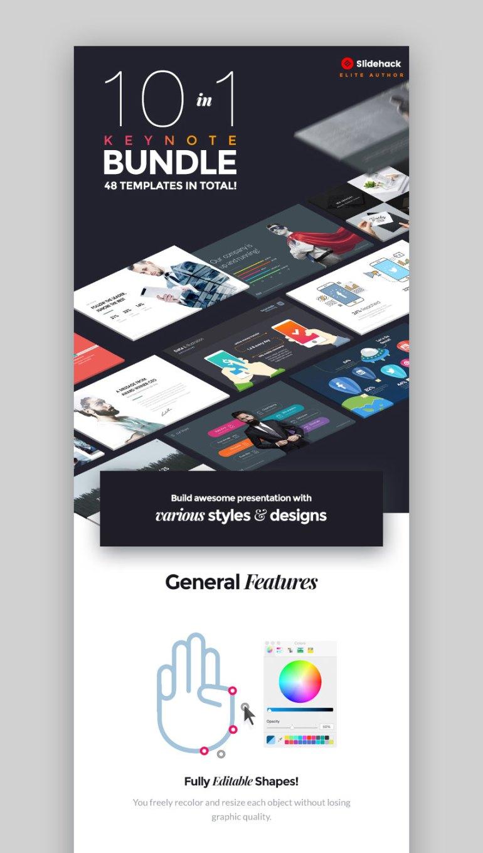 10 in 1 Mac Keynote Bundle With Custom Designs
