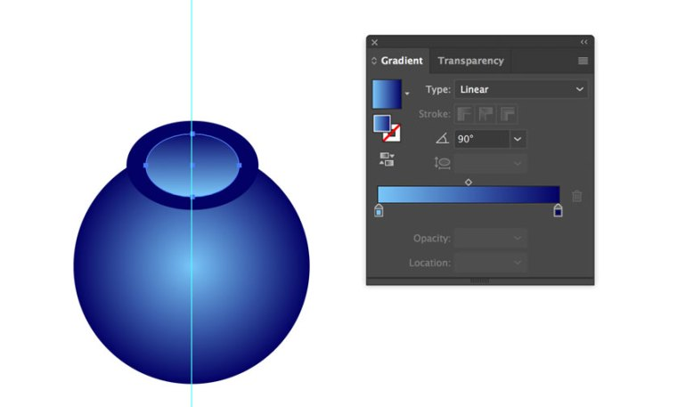 Linear Gradient in Adobe Illustrator