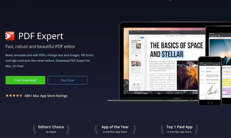 PDF Expert PDF editor for macs