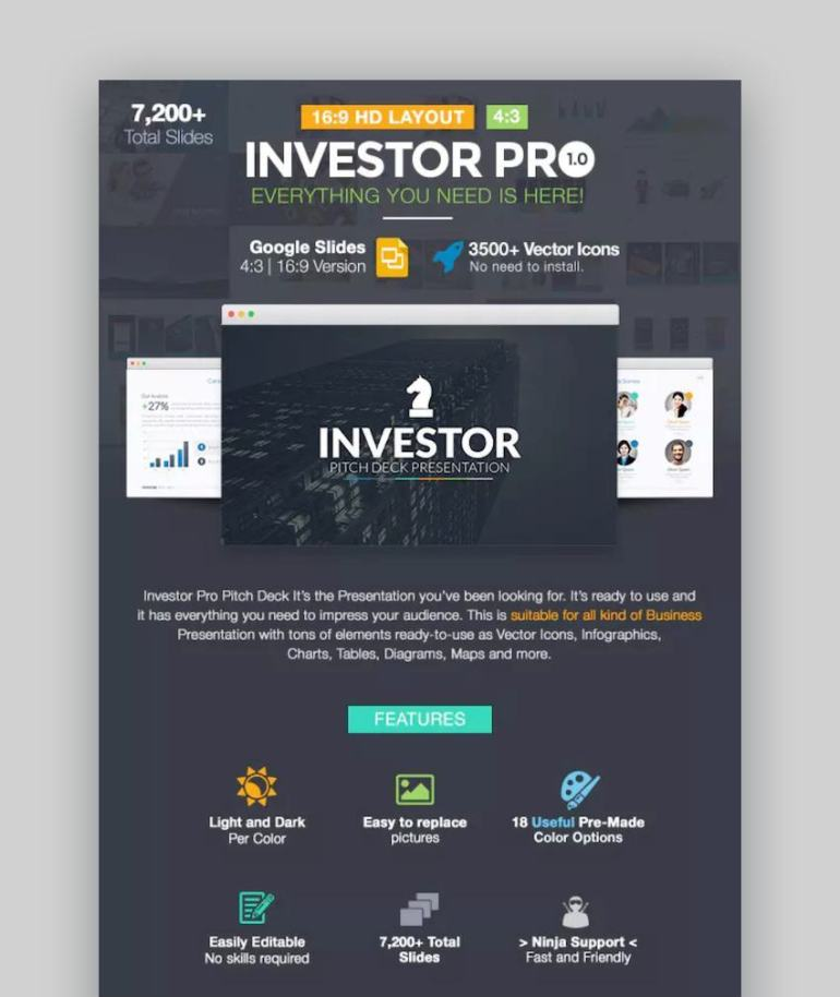 Investor Pitch Deck Google Slides Template