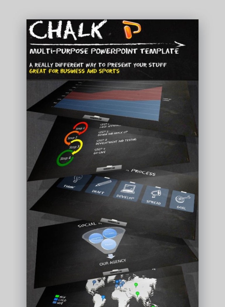 Chalk Sports Design Slides Template