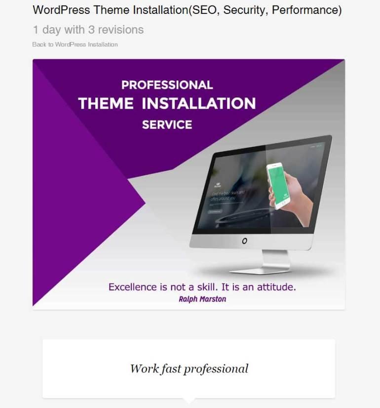 WordPress Theme InstallationSEO Security Performance by itechnotion