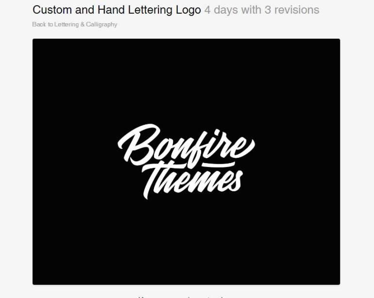 Custom Hand Lettering Logo by yip87