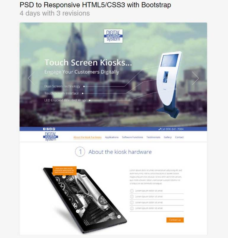 PSD to Responsive HTML5CSS3 with Bootstrap by rohanG