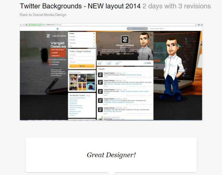 Twitter Backgrounds - NEW layout 2014 by BannerDesignCo