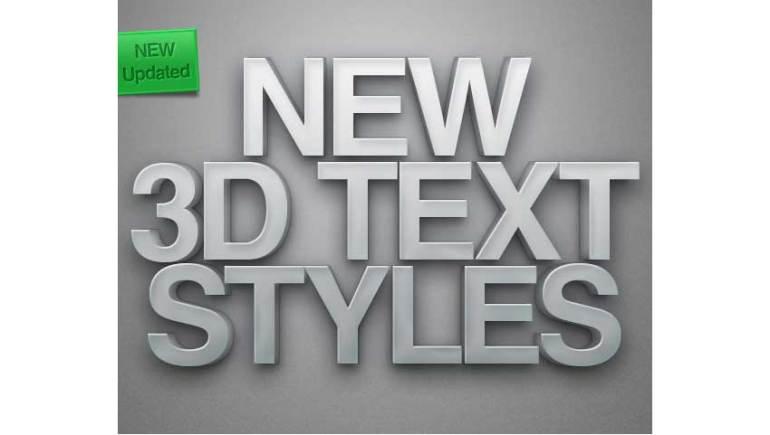 New 3D Text Styles