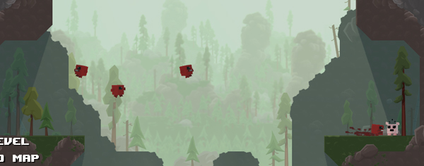 The end-of-level replay in Super Meat Boy Every one of your previous attempts is recorded and then played back at the same time