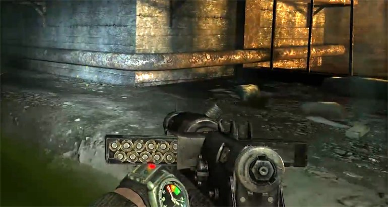 Weapon-Display in Metro 2033