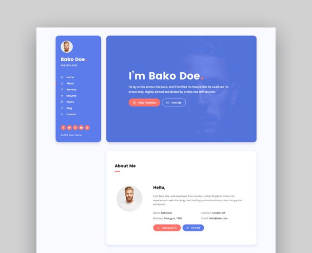 Bako - Personal Portfolio