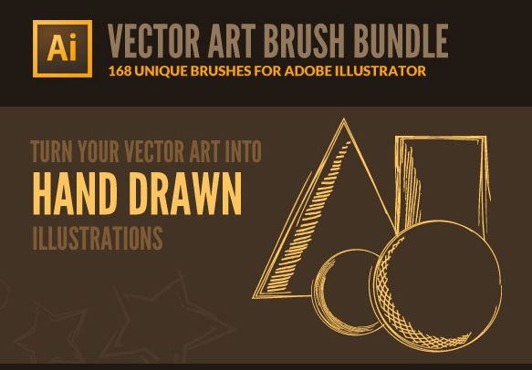 168 Vector Art Brushes