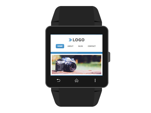 Site shown at actual display size for WebBrowser app on Sony Smartwatch 2