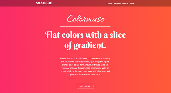 Colormuse - One Page Portfolio Muse Template