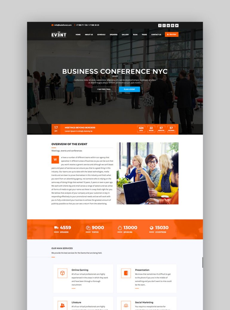 TheEvent  Event Management and Conference WP Theme