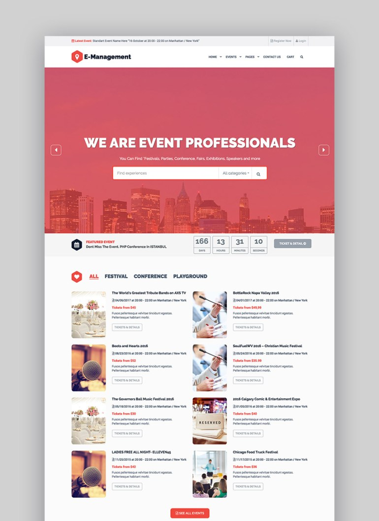 Event Management - WordPress Theme
