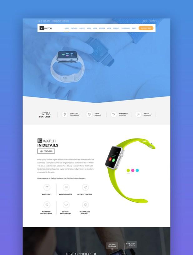 Ex Watch - Single Product eCommerce HTML