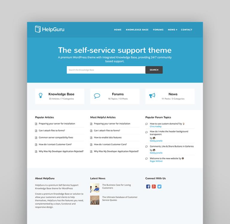 HelpGuru - A Self-Service Help WordPress Wiki Theme